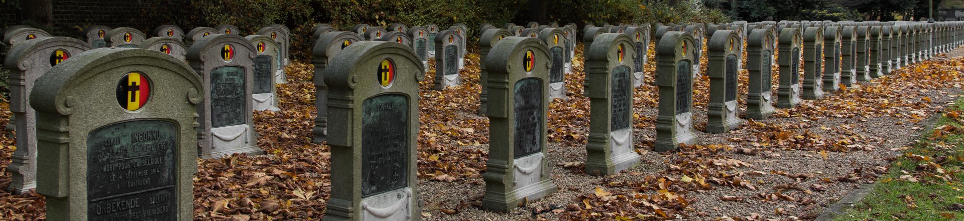 Begraafplaats Belgische militairen gesneuveld WO I te Westerbegraafplaats Gent